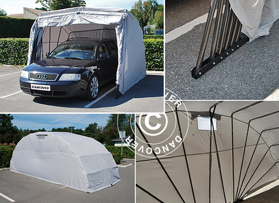 Garajes portatiles garajes plegables cubiertas para for Cubiertas para garajes